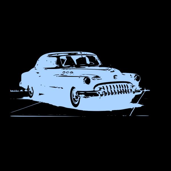 Blue Vintage Car PNG icon