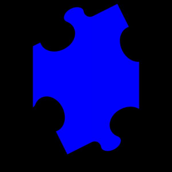 Bright Blue Puzzle Piece PNG Clip art