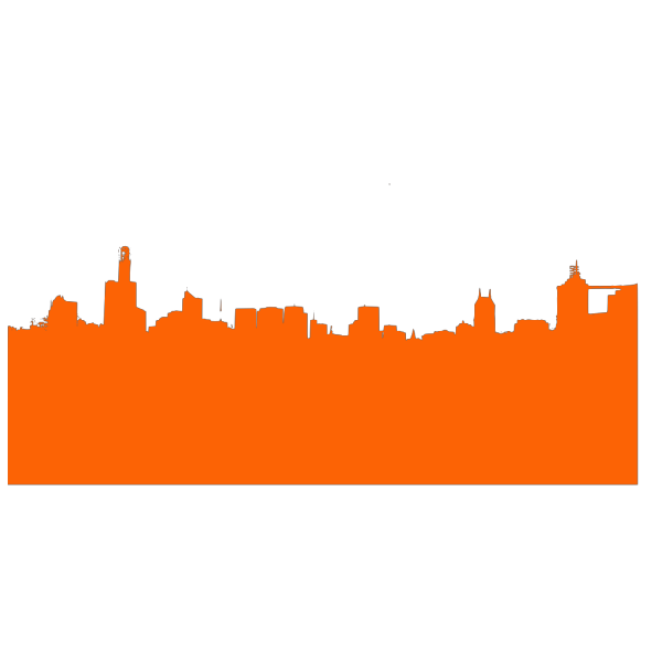 Orange Skyline 1 PNG Clip art