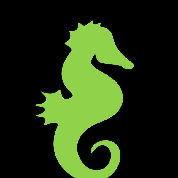 Green Black Seahorse PNG Clip art