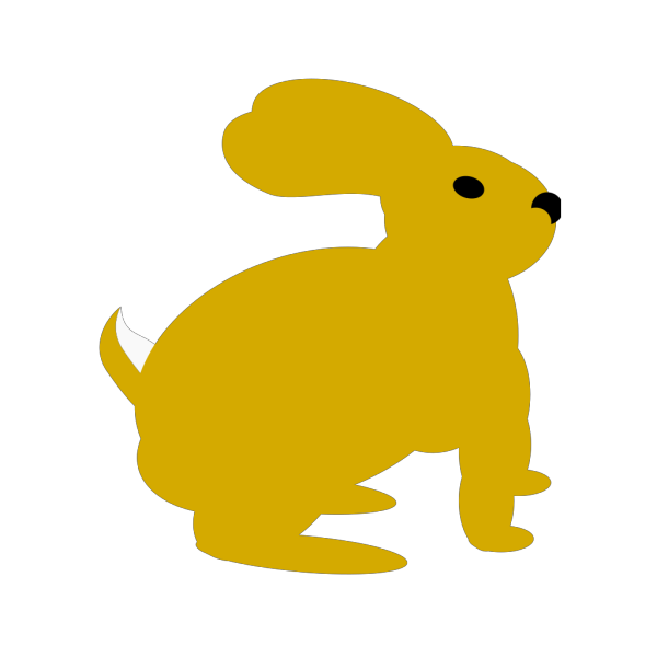 Yellow Rabbit PNG Clip art