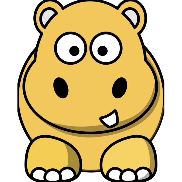 Gold Hippo PNG Clip art