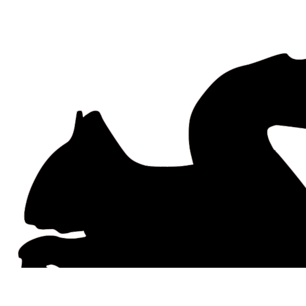 Squirrel Silhouette PNG Clip art