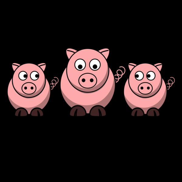 3 Pigs PNG Clip art