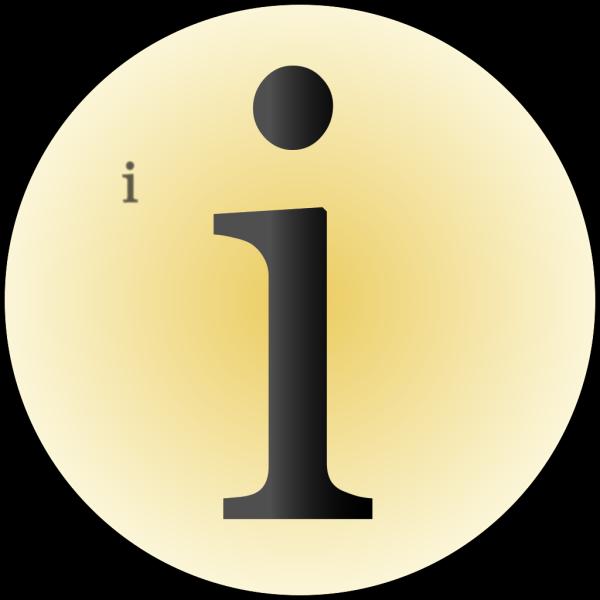 Glossy Info Icon Button