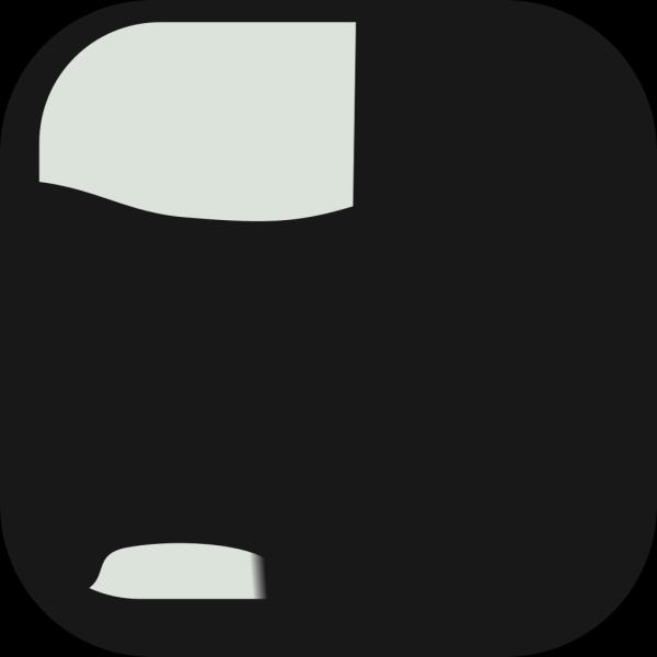 Square Black Crystal Button Clip art