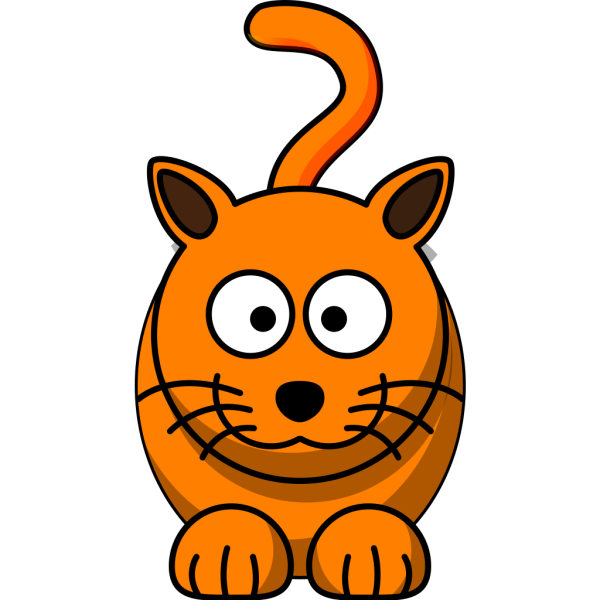 Orange Feline PNG Clip art