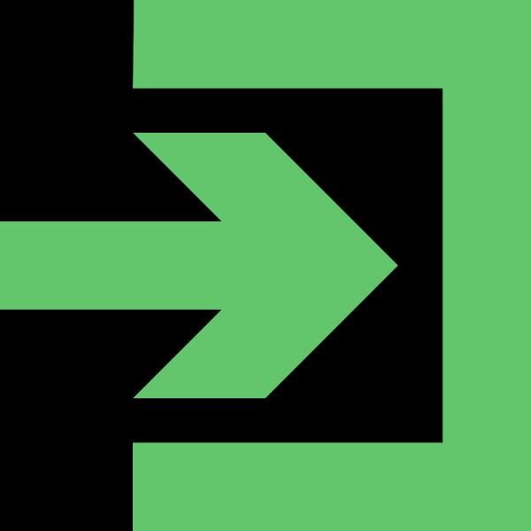Login (green) PNG Clip art