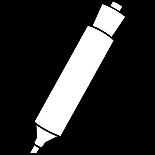 Blue Marker Black Border Fit PNG Clip art