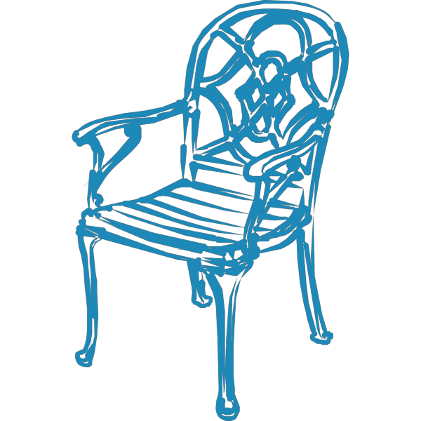 Blue Chair PNG image