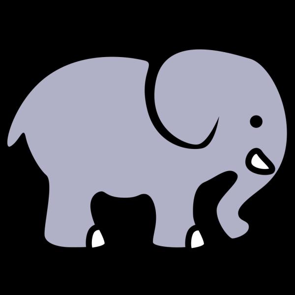 Cartoon Elephant Black PNG Clip art
