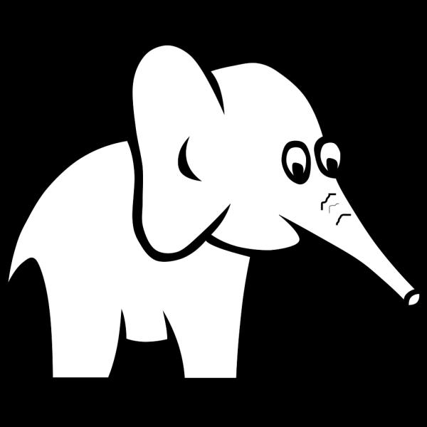 Elephant Silhouette Black PNG Clip art