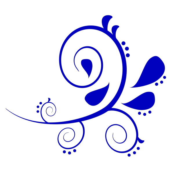 Paisley Curves Blue, Pink PNG Clip art