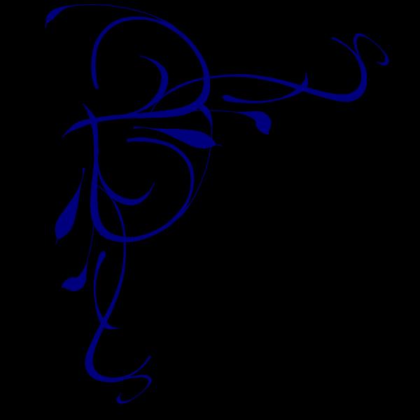 Left Floral Swirl PNG Clip art