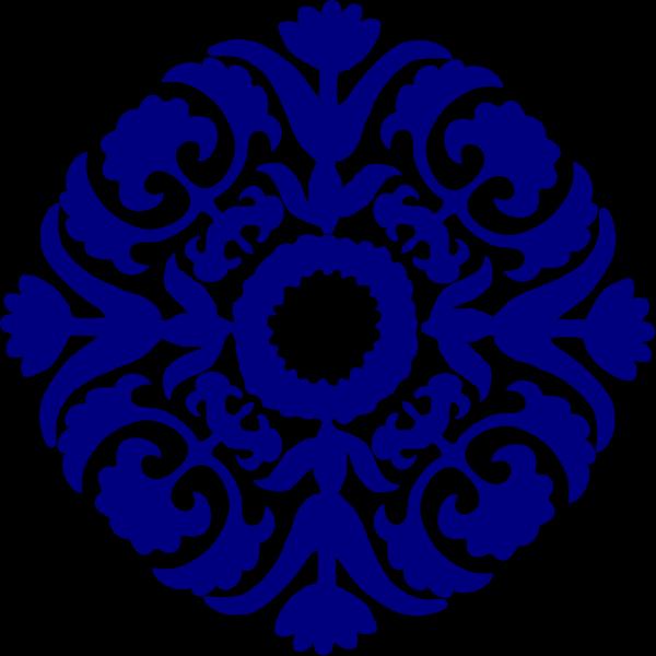 Paisley Tile Navy Blue PNG Clip art