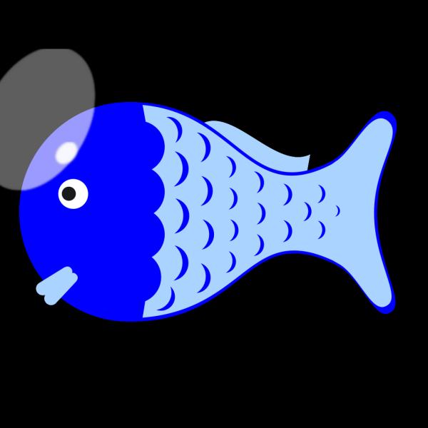 Blue Fishy PNG Clip art