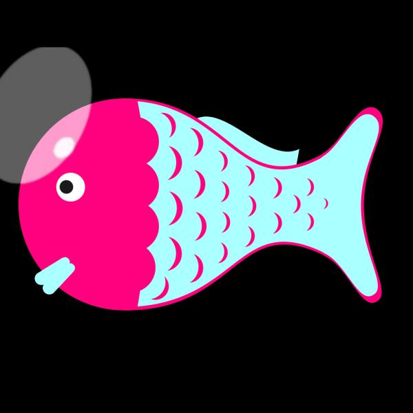 Pink Blue Fish PNG Clip art