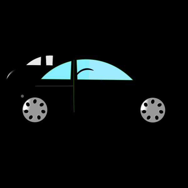 Black Car - Top View PNG Clip art