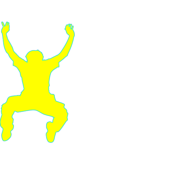 Walking Man Blue PNG Clip art