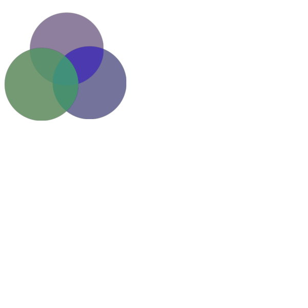 Overlapping Circles PNG Clip art