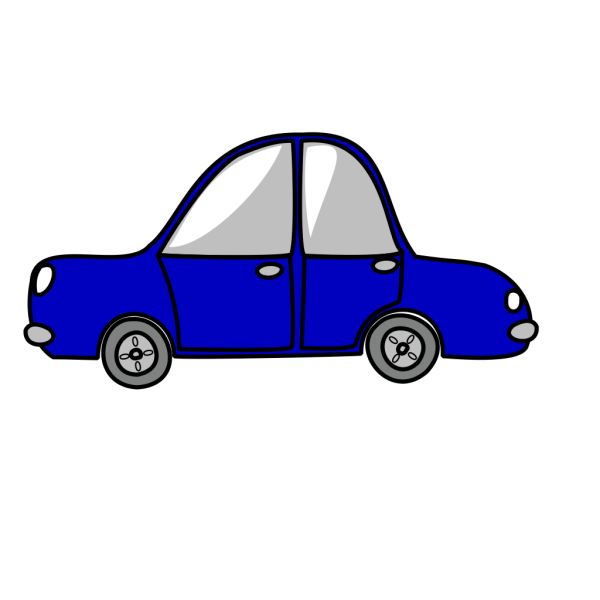 Blue Car Very Small PNG Clip art