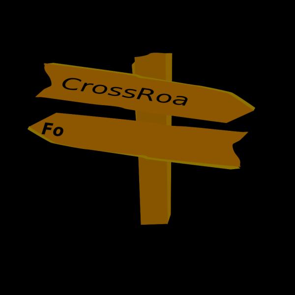 Black Crossroads PNG Clip art