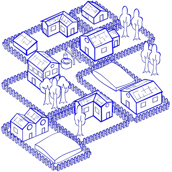 Mixed Use Blue PNG Clip art