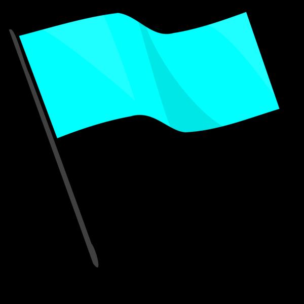Light Blue Flag PNG Clip art