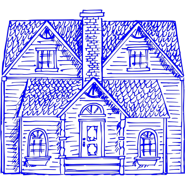 Heritage Home Blue PNG Clip art