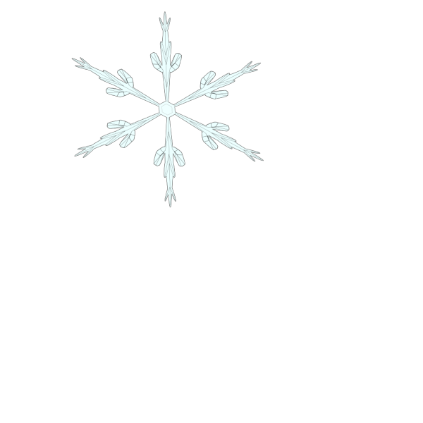 Black Snowflake 6 Point PNG Clip art