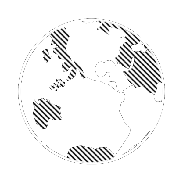 Simple Black And White Earth PNG Clip art