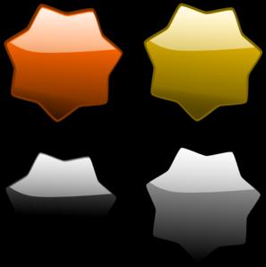 Black Circle Stars PNG Clip art