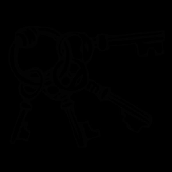 Black Key Ring PNG Clip art