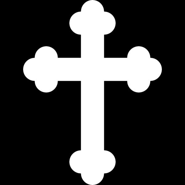 Black White Cross 2 PNG Clip art