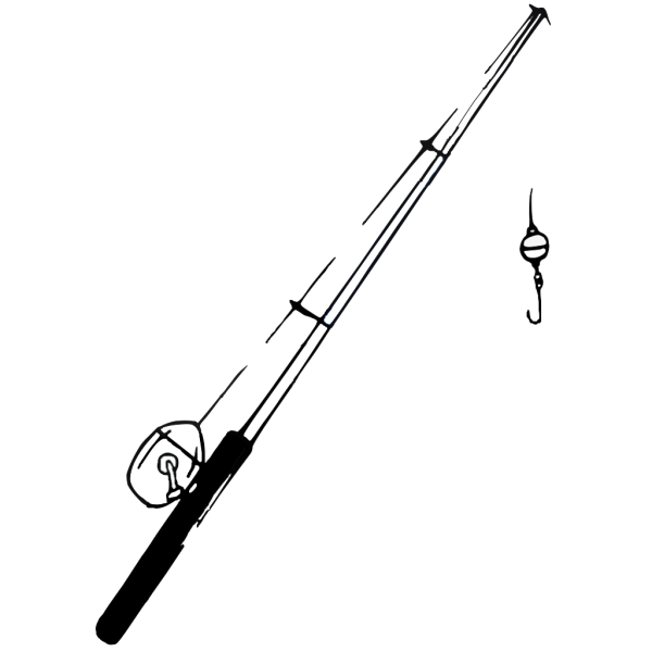 Fishing Pole B And W PNG images