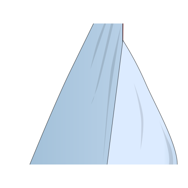 Black Sail Boat PNG Clip art