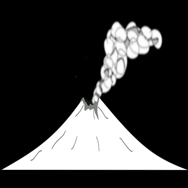 Black Volcanoe PNG Clip art