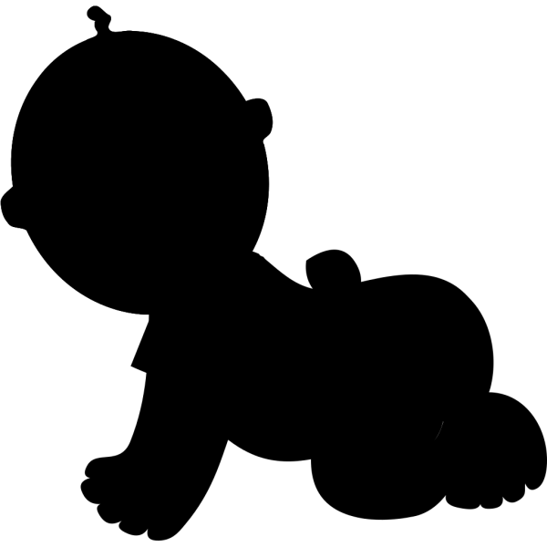 Crawling Baby Black Shirt PNG Clip art