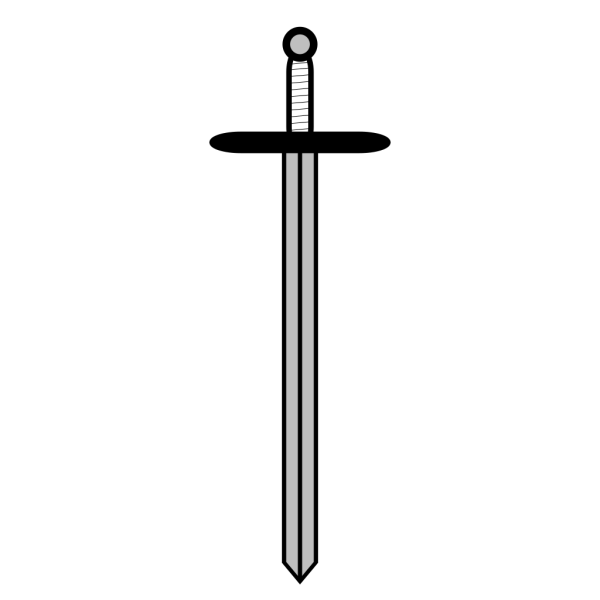 Black Sword PNG icons