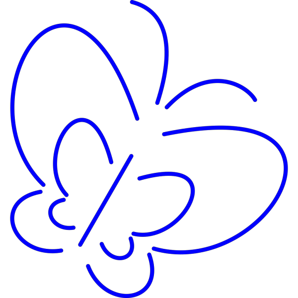 Simple Butterfly PNG Clip art