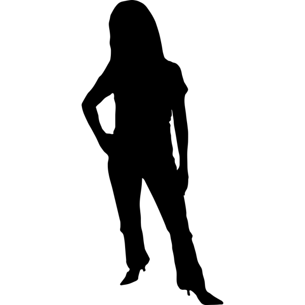 Rbg Woman Silhouette PNG Clip art