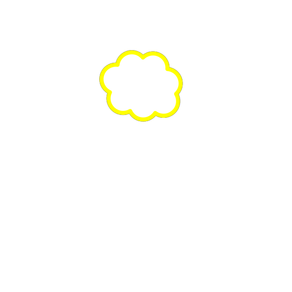 Yellow Cloud PNG clipart
