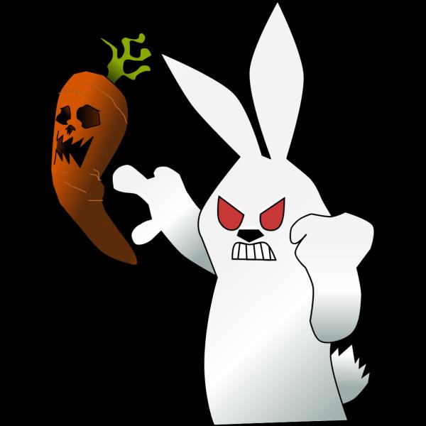 Black Bunny Head PNG Clip art