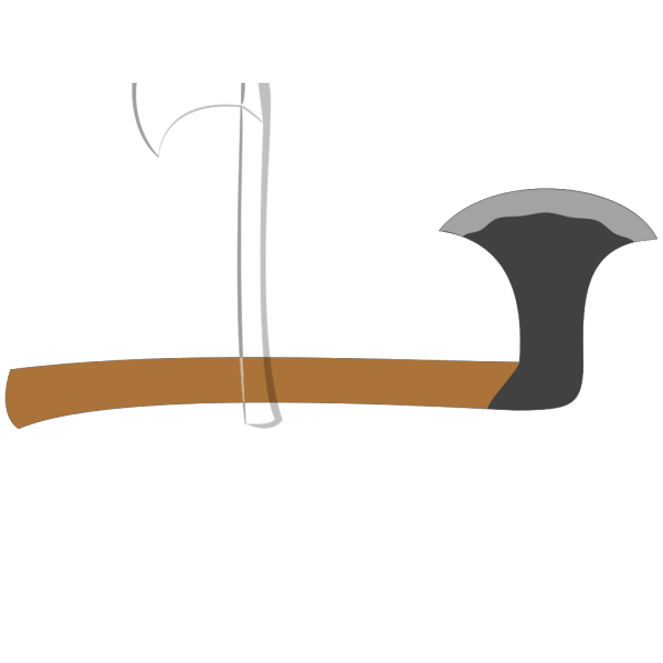 Black Battle Axe PNG Clip art