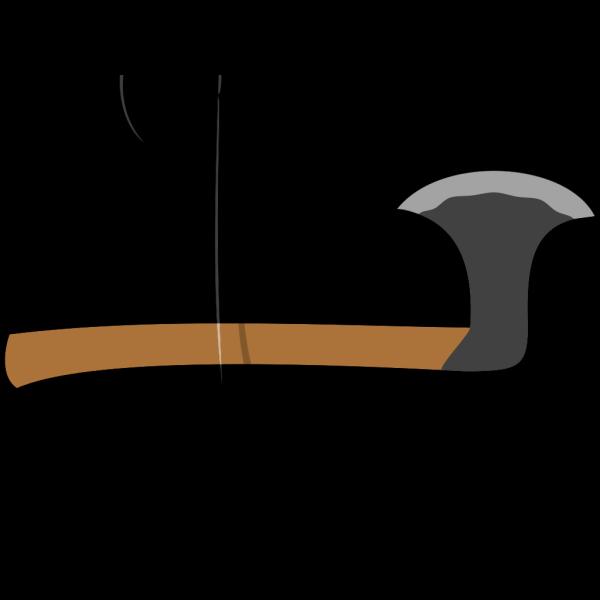 Black Battle Axe PNG Clip art