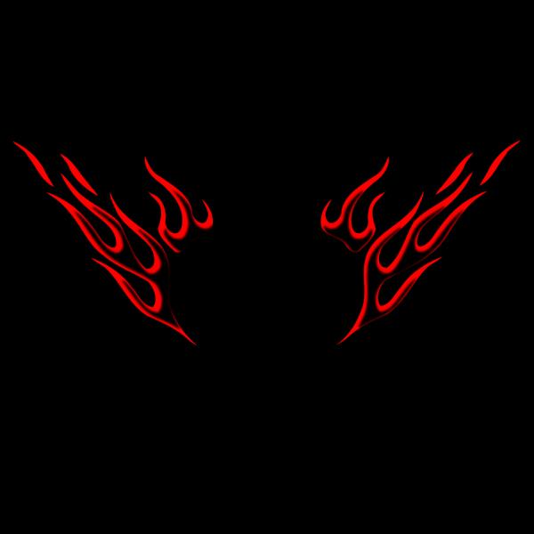 Tribal Black Dragon PNG Clip art