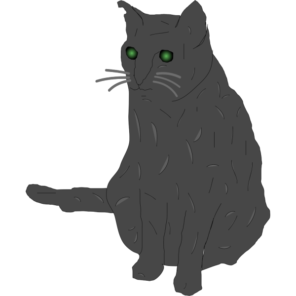 Cat, Smokey PNG Clip art