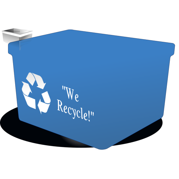 Recycle Bin Black White PNG image