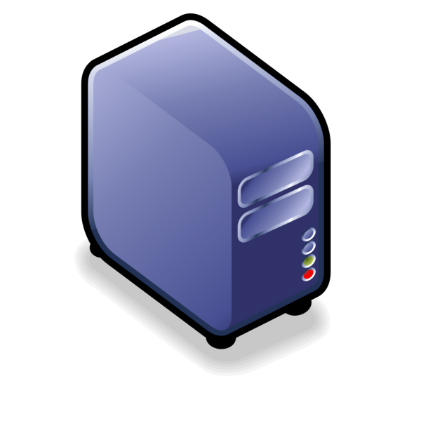 Server Small Case Icon Blue PNG images