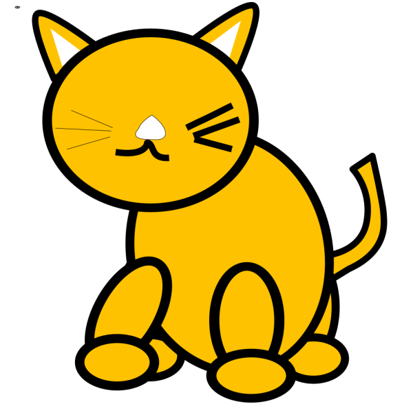 Cat Round PNG images